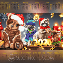 Calendar from EleganceFly 2020
