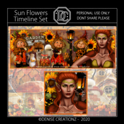 Sun Flowers Timeline Set