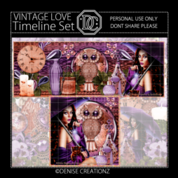 Vintage Love Timeline Set