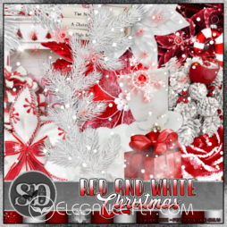 Red and White Christmas Scrap Kit