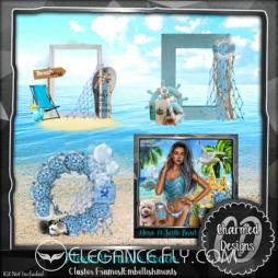 Alexa At Turtle Beach Cluster.Embellishments